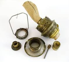 old oil lamps parts