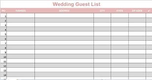 Printable Wedding Guest List Organizer Wedding Guest List Organizer Magdalene Project Org