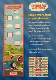 Thomas The Train Growth Chart Thomas And Friends Watch Me Grow Growth Chart 15 00