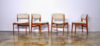 set of four erik buch style teak dining chairs