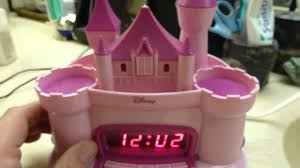 Disney Princess Magical Light Up Alarm Clock Disney Pink Princess Castle Radio Alarm Clock Projection With Video