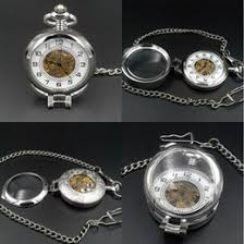 discount wind up pocket watches 2017 mechanical wind up pocket 2017 wind up pocket watches mens silver pocket watch 17 crystals hand wind up mechanical movement