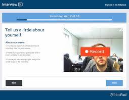 video interviewing software l online video interview platform l video interviewing platform tribepad