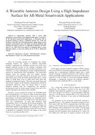Innovative Antenna Design Pdf A Wearable Antenna Design Using A High Impedance
