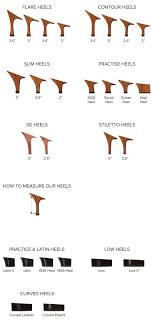 Size And Heel Guide Help Info Supadance Dance Shoes