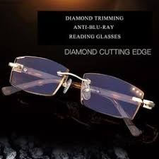 <b>Diamond Cutting Reading</b> Glasses Crystal <b>Rimless</b> Diopter Glasses ...
