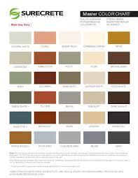 Almond Color Chart Color Concrete Hardener Pail