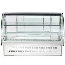 vollrath curved glass drop countertop refrigerated display case wood countertop