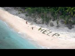 Shipwrecked Sailors Rescued After Making Help Sign Youtube