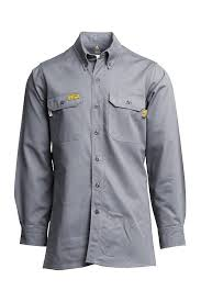 Lapco Fr Gosac7gy Gray 7oz Fr Uniform Shirts