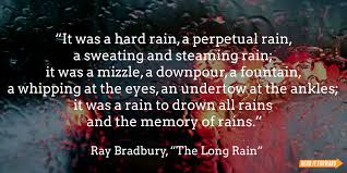 famous literary quotes about rain it forward ray bradbury rain