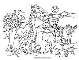 Coloring Pages Zoo Animals Preschool Free Of Animal Amazing Page An