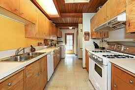 mid century modern galley kitchen. Midcentury Modern Home For Sale Hollywood Hills. A Long Galley Kitchen Mid Century