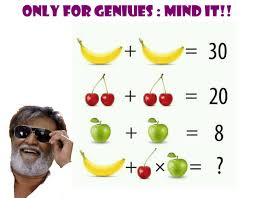 banana cherry x apple cool math puzzles only for geniuses brain teasers pics story
