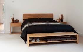 A A Stylish Solid Wood Endofbed Bench For Extra Bedroom Storage And  Place To Sit The Benches Are Available In Oak Or Walnut Free UK Delivery