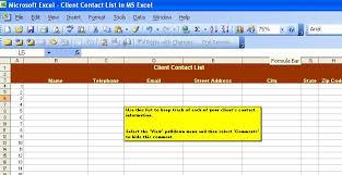 client contact list template handyman business forms templates