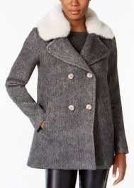 inc international concepts i n c faux fur trim peacoat created for macy s
