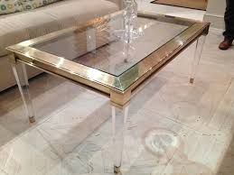 ... Coffee Tables, Beautiful Clear Rectangle Minimalist Glass Acrylic  Coffee Tables Design Ideas To Fill Living ...
