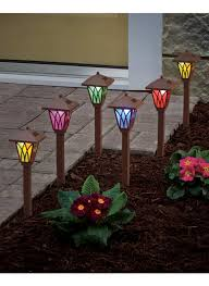 Red Solar Pathway Lights Color Changing Pathway Lights Pathway Lighting Landscape
