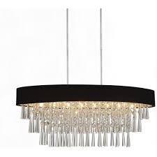 cwi lighting franca 8 light chrome chandelier with black shade