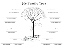 Drawing A Family Tree Template Free Family Tree Printable Blank Template Genealogy Chart
