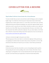 How To Make Resume Cover Letter How To Make A Cover Letter For Resume isolutionme 8