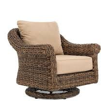 bahamas wicker outdoor swivel rocker