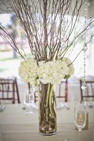 wedding reception flowers twigs