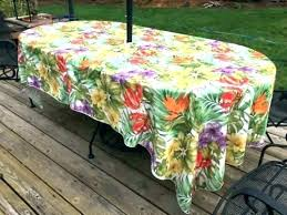 post fitted outdoor tablecloth square with umbrella hole patio table tablecloths vinyl furniture round