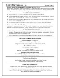 Resume Example Client Relations Executive Cover Letter Resume