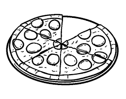 Small Picture Pepperoni pizza coloring page Coloringcrewcom