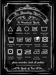 Small Picture Amazoncom Laundry Guide Metal Sign Home Decor Modern Decor