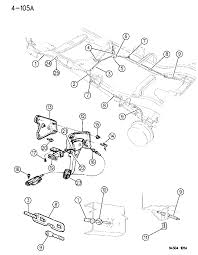 1996 dodge dakota lever cables parking brake diagram 00000eem