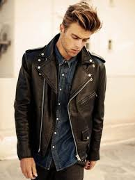 look on trend without exerting much effort in a black leather jacket and black jeans