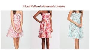 Floral Pattern Bridesmaid Dresses