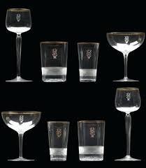 monogrammed drinking glasses with ligated monogram engraved set