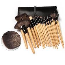 wjs 24pcs high quality professional cosmetic makeup brush set