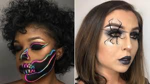 Sofia Hernandez Spider And Jarrytheworst Neon Skull Halloween Makeup Costume