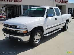 2001 Summit White Chevrolet Silverado 1500 LS Extended Cab 4x4 ...