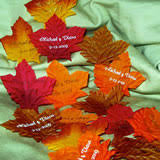 fall wedding place card holders. personalized fall leaves (200 per wedding place card holders