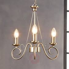 antique brass chandelier marnia 3 bulb 9621014 01