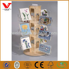 Wooden Greeting Card Display Stand acrylic greeting cards shelfYuanwenjun 62