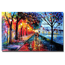 free modern abstract night view wall art oil painting large canvas art beautiful oil paintings