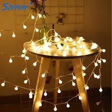 szvfun led garland outdoor string lights battery 100 festoon light bulbs flash warm white guirlande