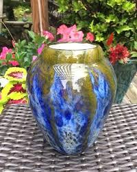 vintage colored glass vases image 0 vintage coloured glass vases
