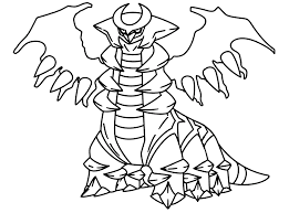 Legendary Pokemon Coloring Pages Giratina Coloringstar