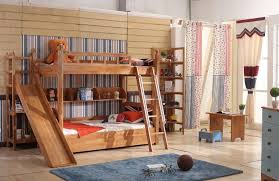 kids bunk bed with slide. Plain Kids Bingo Solid Wood Bunk Bed With Slide In Kids With E