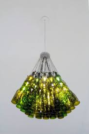 7 chandelier idea made using glass bottles from your home