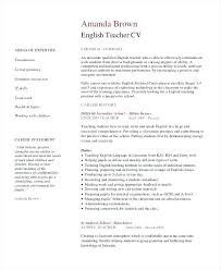 Online Teaching Resume Examples Best Of Resume In English Sample Sample Teacher Resumes Teacher Resume