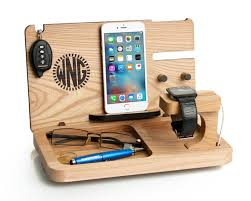 mens gift iphone 7 apple watch docking station personalized gift for boyfriend eye and wallet dock mens desk organizer iwatch stand
